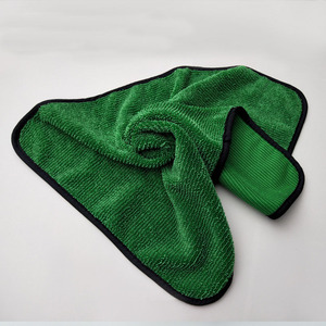 Image 5 - منشفة تنظيف السيارة من الألياف الدقيقة بلون أخضر 1psc 40*60 ، أداة تنظيف السيارة ، قماش جاف للعناية بالسيارة ، مناشف من الشمع غير قابلة للخدش