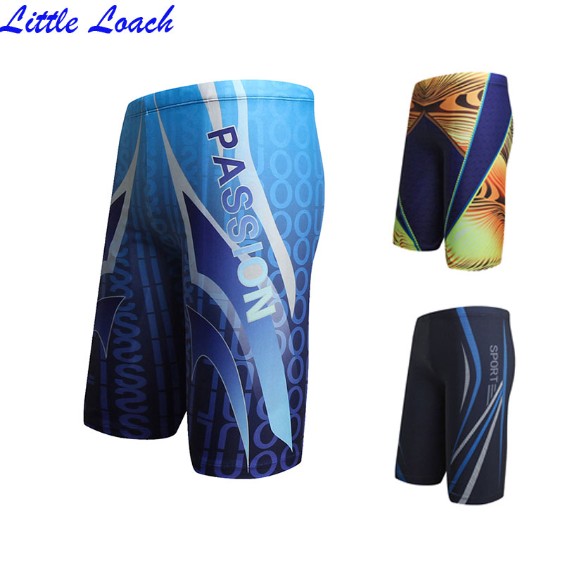 Men Swim Trunks Male Printing Boxer Swimming Shorts 2018 New Style Surf Swimsuit Elastic Bathing Suit Long Swimwear Size L-XXXL
