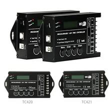 TC420 TC421 TC423 ترقية LED الوقت واي فاي للبرمجة تحكم DC12V/24 فولت 5 قناة الإخراج لشريط LED أضواء أحواض السمك