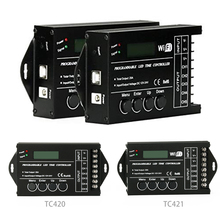 TC420 TC421 TC423 verbesserte LED Zeit WIFI Programmierbare Controller DC12V/24 V 5 Channel Ausgang für LED streifen Lichter aquarien