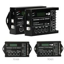 TC420 TC421 TC423 zmodernizowane doprowadziły czas WIFI programowalny kontroler DC12V/24 V 5 kanał wyjściowy dla LED diody na wstążce akwariów