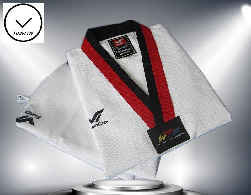 WTF Doboks Taekwondo uniforme spécial tissu Cooton v-cou Sport vêtements nouvelle marque confortable et Noble