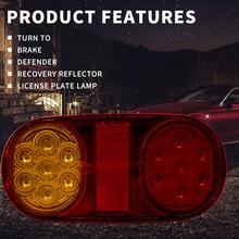 Универсальный 1 пара 12 В светодиодный задний светильник s стоп-индикатор с номерным знаком светильник для автомобиля грузовика прицепа лодки