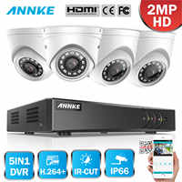ANNKE 1080P 8CH CCTV Home Video Security System Lite H.264+ 5in1 DVR 4PCS TVI Smart IR Dome Weatherproof Camera Outdoor CCTV Kit