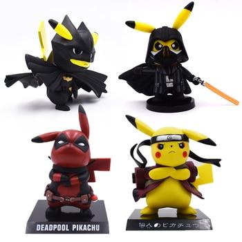 4 Styles Anime Cute Pikachu Cosplay Deadpool Batman Darth Vader Naruto PVC Action Figure Dolls Collection Model Christmas Toy predator concrete jungle figure