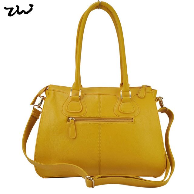 ZIWI Brand Women Handbags Earth Yellow Colour Fashion Shoulder Bags  PU Leather Bag TB178