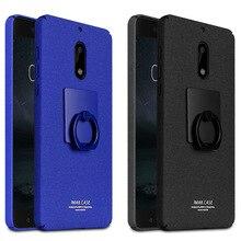 IMAK Ковбой Дело Чехол Матовый для Nokia 6 Задняя Крышка для Nokia6/TA-1000 Матовые Случаи & Палец Кольцо Удержания + Экран протектор