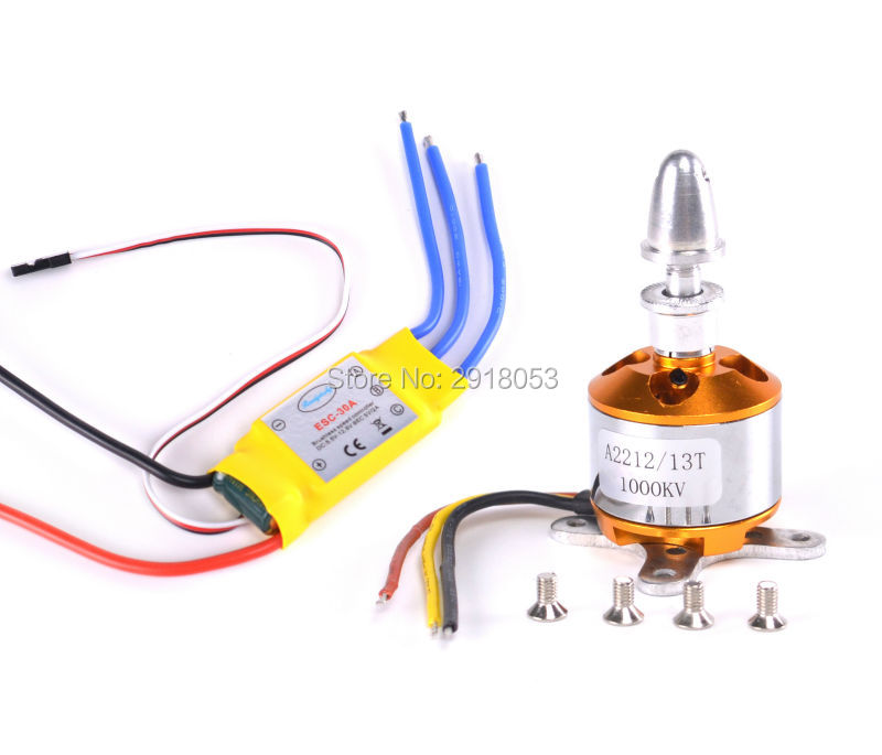 A2212 <font><b>1000KV</b></font> Brushless <font><b>Motor</b></font> 13T + 30A Speed Controller ESC for DIY RC Aircraft Quadcopter Hexacopter Multirotor image