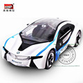 1:32 I8 Luxury Concept Car Metal Alloy Diecast Car Toy Vehicle Scale Models Miniature Motor Sound and Light Kids Boys Toys Gifts