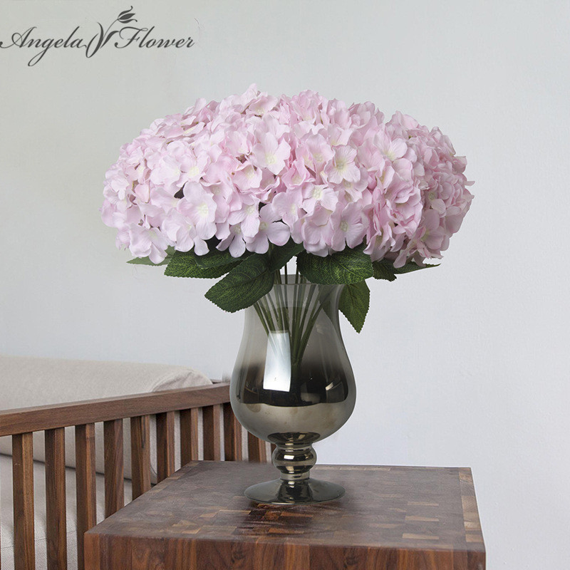 Buy 7 heads mallorca hydrangea silk cloth for Angela florist decoration