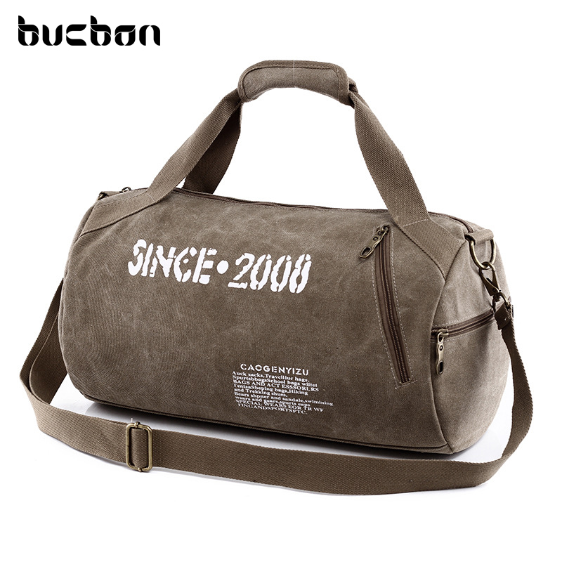Canvas Sport Bag Training Gym Bag Men Woman Fitness Bags Durable Multifunction Handbag Outdoor Sporting Tote For Male HAC057 aosbos fashion portable insulated canvas lunch bag thermal food picnic lunch bags for women kids men cooler lunch box bag tote