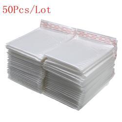 50 шт./партия, белый пенопластовый конверт, сумка, разные характеристики, почтовый конверт, мягкий Почтовый конверт с пузырьковый почтовый