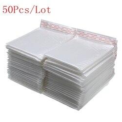 50 шт./лот, белый пенопластовый конверт, сумка, разные характеристики, почтовые отправители, мягкий конверт, пузырьковый почтовый пакет, Лиде...