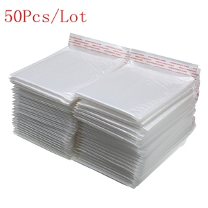 50 PCS/Lot White Foam Envelope Bag Different Specifications Mailers Padded Shipping Envelope With Bubble Mailing Bag Hot Sale