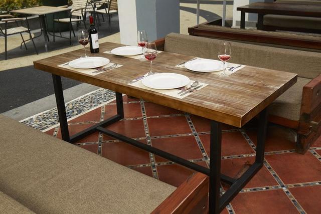 País de américa mesa de comedor de madera simple combinación de ...