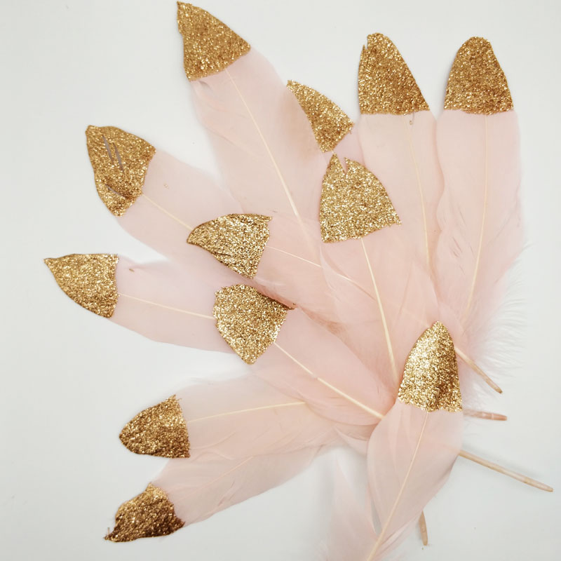 Feather Banner Pink Blue White Champagne Gold Indian Style Party Decoration Children 39 s Room Hanging Wedding birthday Garland in Banners Streamers amp Confetti from Home amp Garden