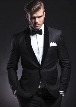 f9a33f6b839dc Padrino de boda de la solapa del vestido botón satén negro hombres del  Padrino para el baile formales novio traje chaqueta + Pantalones + tie en  Trajes de ...