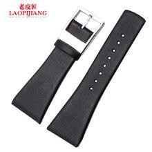 Laopijiang sección Oblicua correa de ajuste KOQ21120 | K0Q21107 Correa de Cuero Negro 28mm
