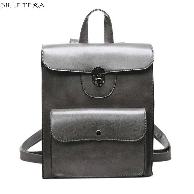 BILLETERA Fashion Turn Lock Bright Women Backpack Bag Messenger Bag Back to School Cute Backpack