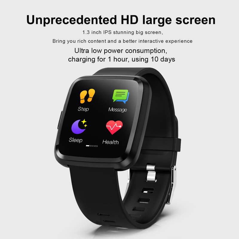 Consumer Electronics Bright Fuwudiyi 1.3 Inch Full Screen Touch Y7p Smart Watch Android Heart Rate Tracker Call/message Reminder Smart Watch Life Waterproof Strong Resistance To Heat And Hard Wearing Smart Watches