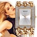 Weiqin lujo cristal de diamante de oro brazalete de la pulsera relojes de las mujeres señoras de la manera vestido reloj mujer relogio feminino reloj hora