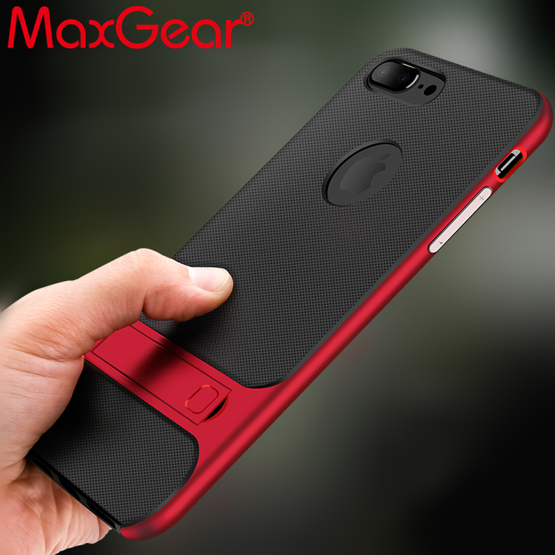 Kickstand <font><b>Case</b></font> For <font><b>iPhone</b></font> 7 <font><b>8</b></font> Plus X <font><b>Magnetic</b></font> Holder Phone <font><b>Cases</b></font> PC+TPU 360 Degree Rack Stand Cover For <font><b>iPhone</b></font> 6 6s Plus image
