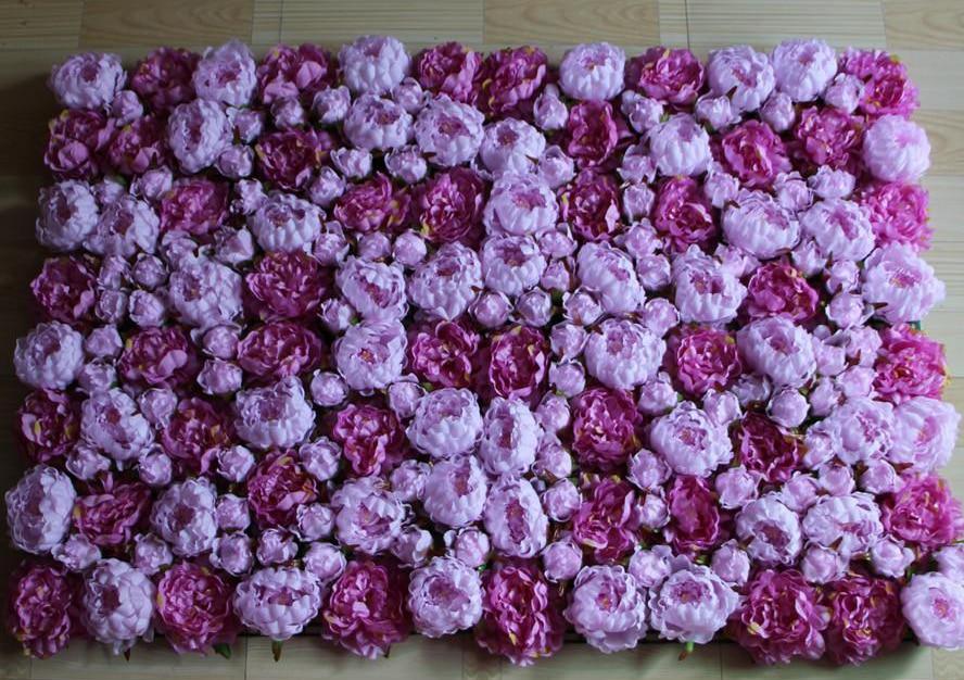 40cm 60cm Artificial Voilet Hydrangea Peony Flower Wall