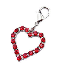 Dog Products Collars Fashion Popular Heart Shaped Puppy Rhinestone Pendant Lovely Pet Jewelry Acessorios Para Cachorro(China)