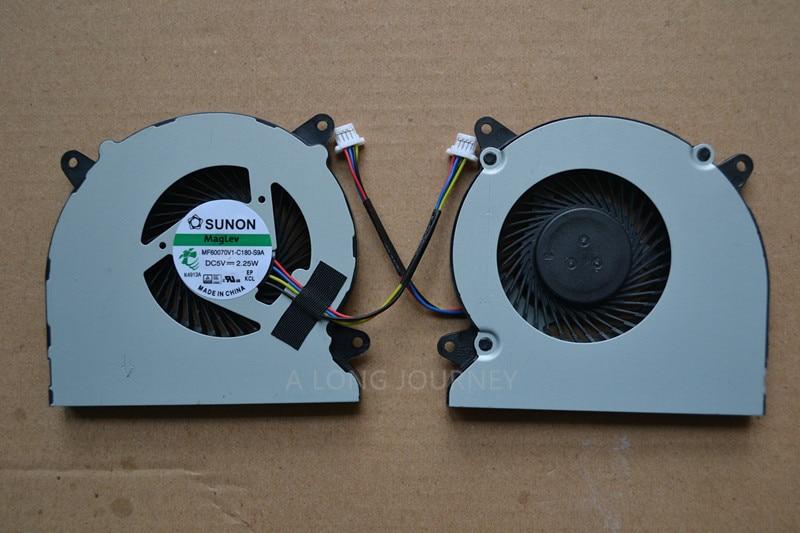 Nouvel ordinateur portable cpu ventilateur de refroidissement pour ASUS N750JV N750iv