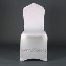 Awillhome доставка бесплатно 100 шт. белый спандекс чехлы на стулья 210gsm хорошее качество для свадьбы событие декор партии