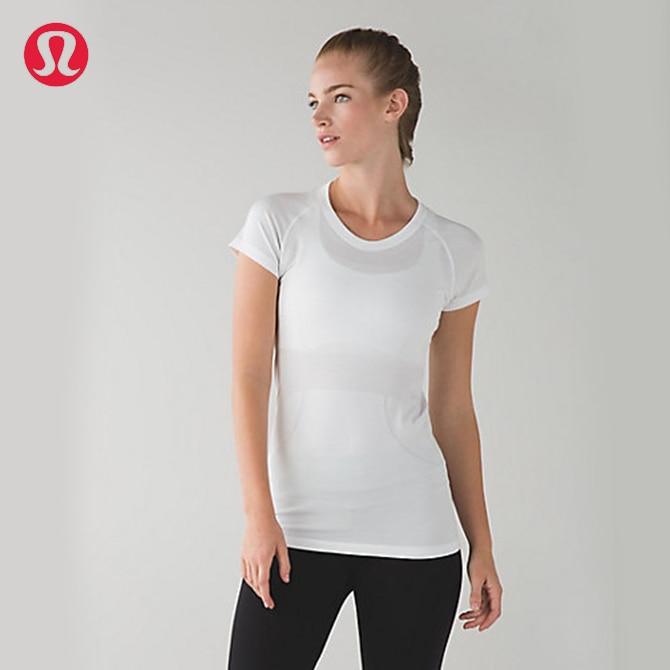 Prix pour Lulu LULULEMON transparente pur couleur de yoga de course t-shirt 4 couleurs DX001