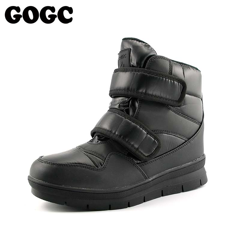 GOGC Warm Men Winter Ankle Boots Brand New Non-slip Winter Men Shoes High Quality Men Footwear Winter Boots Snow Boots Plus Size new fashion men basic black winter warm shoes high top nuduck genuine leather luxury brand ankle snow boots flats size 38 44
