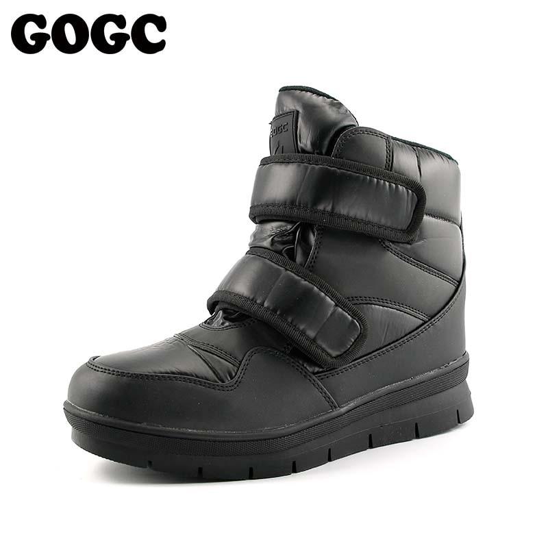 GOGC Warm Men Winter Ankle Boots Brand New Non-slip Winter Men Shoes High Quality Men Footwear Winter Boots Snow Boots Plus Size все цены