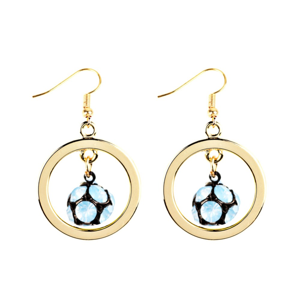 6 Colors Available Unisex Football pendant earrings Stainless Steel Soccer earrings For Women sport ball Jewelry