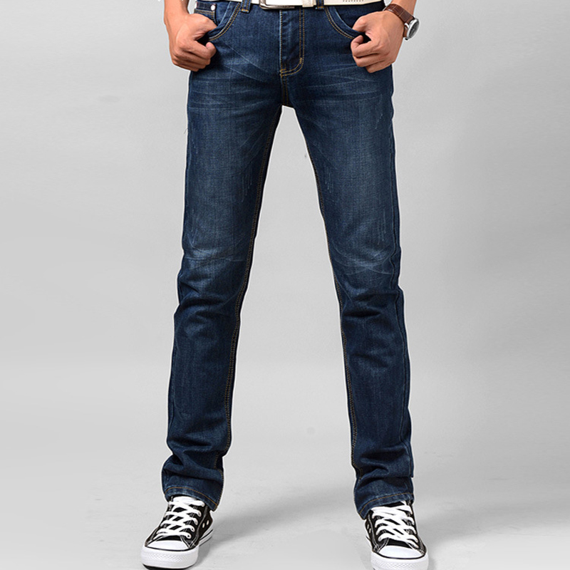 Mens Casual Straight Jeans New Calca Masculina Vaqueros Hombre Trousers Kanye West Denim ...