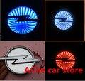 Envío libre OPEL 3D azul rojo blanco Impermeable LLEVÓ la lámpara de Auto accesorios Coche insignia Emblema Trasero luz Corriente