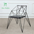 Creative dining chair diamond wire are hollow iron furniture design industrial