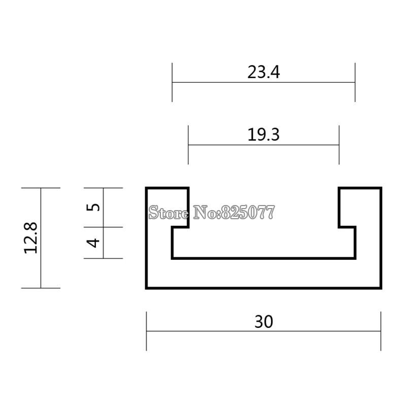 2PCS T-takelių ilgis 24 colių 600 mm. T-takelių T-plyšio Mitre - Įrankių komplektai - Nuotrauka 2
