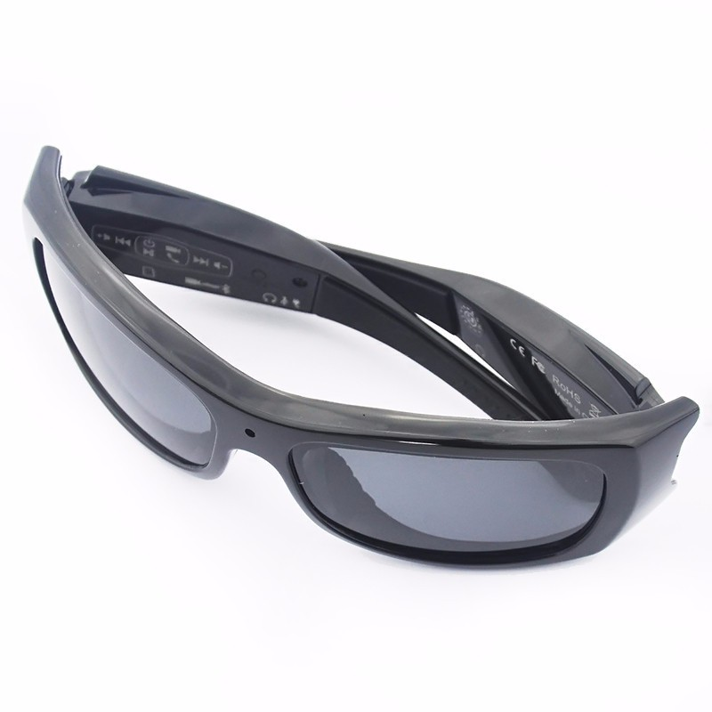 Forestfish Bluetooth Sunglasses with Camera 8GB SD Card HD 720P Video Recorder Camera Glasses Headset for IOS Android Smartphone