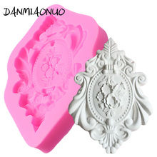 DANMIAONUO Retro frame shape silicone molds fondant cutter decoration cake chocolate mold kitchen baking form 3D dessert A100742
