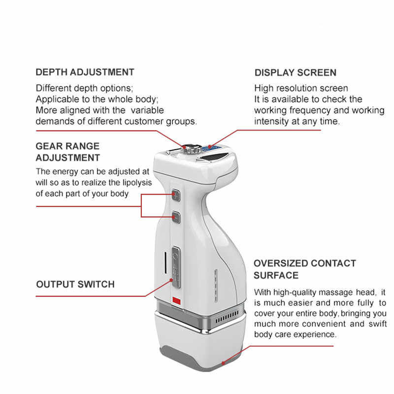 Portable hifu body slimming home use weight loss hifu high intensity  focused ultrasound slimming machine