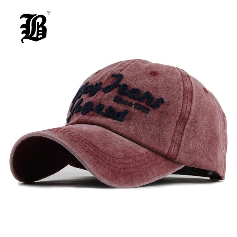 [FLB] men's   Baseball     Cap   Snapback Hats For women Hip hop Gorras Embroidered washed Hat   Caps   Casquette Bone Brand   cap   Retro F121