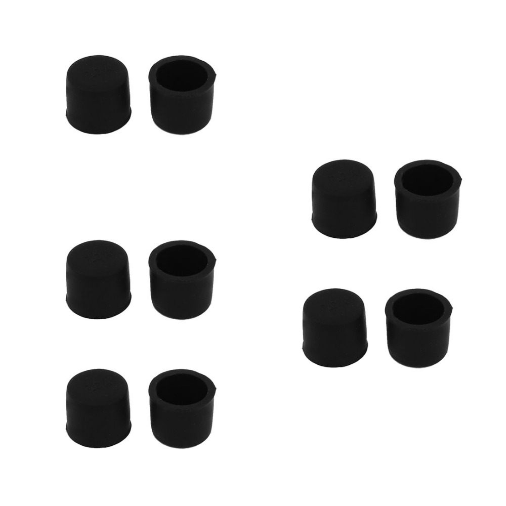 Silicone RCA Female Connectors Dust Proof Cap Protector Cover Black 10 Pcs rca female to female connectors 10 pack