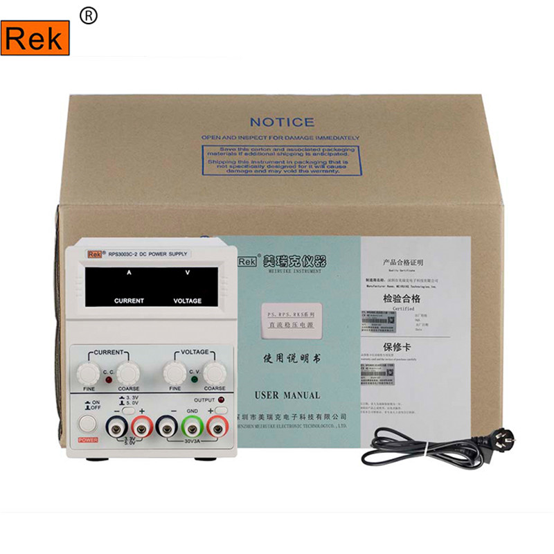 Four-digit display RPS3003C-2 adjustable DC power supply 30V / 3A linear power supply repair ship from de four digit display professional 0 30v 0 5a dc power supply device for workshops laboratory etm 305f eu plug