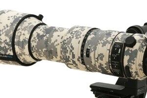 Image 5 - ROLANPRO imperméable lentille Camouflage manteau couverture de pluie pour Sigma 60 600mm f4.5 6.3 DG OS HSM Sport lentille étui de protection pistolets tissu