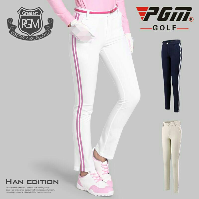 PGM Clothes Ultra-thin 2018 Lady Apparel Golf Women 9 Points Pant Breathable Trousers Wear Vertical Stripes Spell Tennis Pants цена