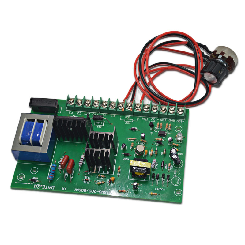 220V permanent magnet DC motor speed control board 1HP controller 750W high power motor drive speed regulator