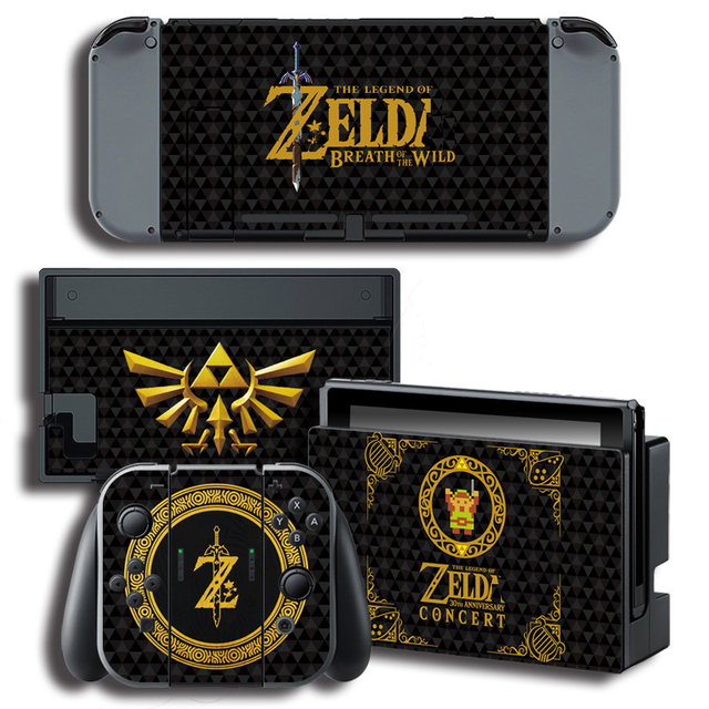 Vinyl Skin Protector Sticker for The Legend of Zeld a for Nintendo Switch NS Console + Controller + Stand Holder Skins 3