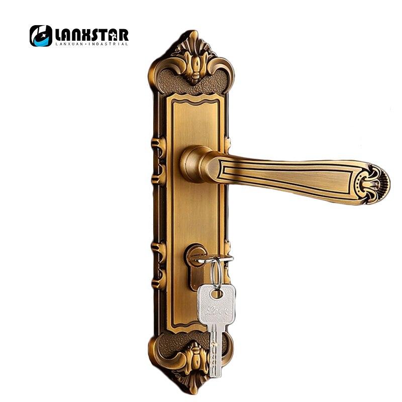 En gros de luxe poignée serrures chambre porte casier en vrac commande Assurance qualité muet Lockcore serrure intérieure