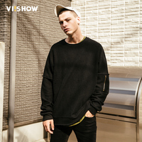 VIISHOW 2017 Hoodies Men Sudaderas Hombre Hip Hop Mens Brand Hooded Zipper Decoration Hoodie Sweatshirt Men